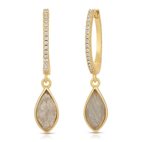 Lola Gold Labradorite Earrings