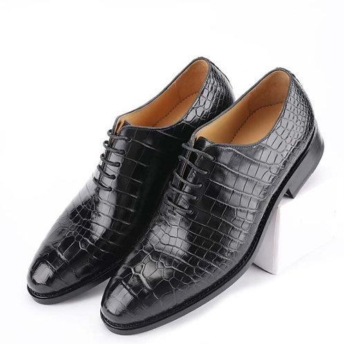 Crocodile Leather Men Shoes for Men Business Suit Lace-Up  Men's Leather Shoes