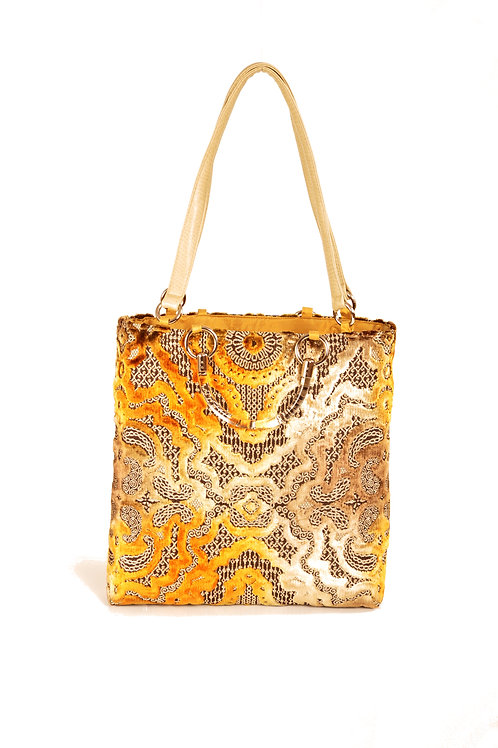 Baroque Gold  Large Tote
