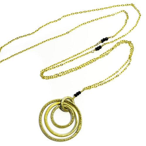 'Triple Hoop' Necklace-Silver