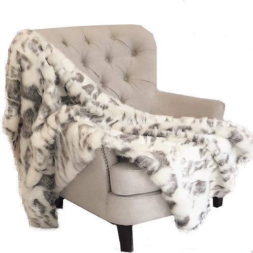 Ivory Rabbit Faux Fur Handmade Luxury Throw