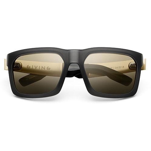 Giving: Matte Grey Translucent - Brushed Gold / Gold Flash Lens