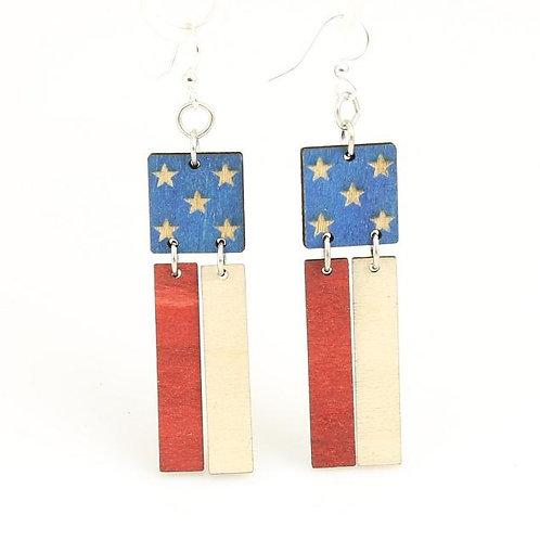 American Flag Earrings # 1473