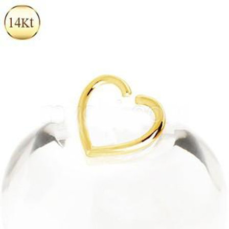14Kt Yellow Gold Heart Shaped Cartilage Earring