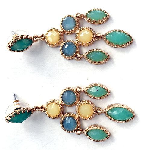 Crystal & Gold Chandelier Earrings