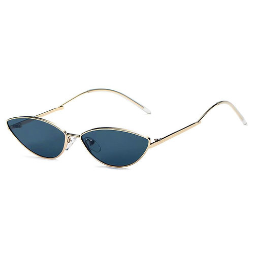 FLINT | S3012 - Small True Retro Vintage Slim Metal Sunglasses