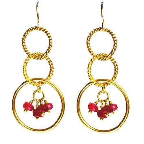 'Twisted Links' Charm Earrings