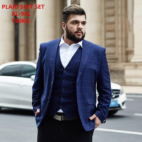 3 Piece Business Pants Clothes Size 5XL 6XL 7XL 8XL 9XL Office Formal 2 Set