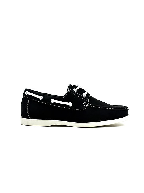 Lace Boat Shoes Black