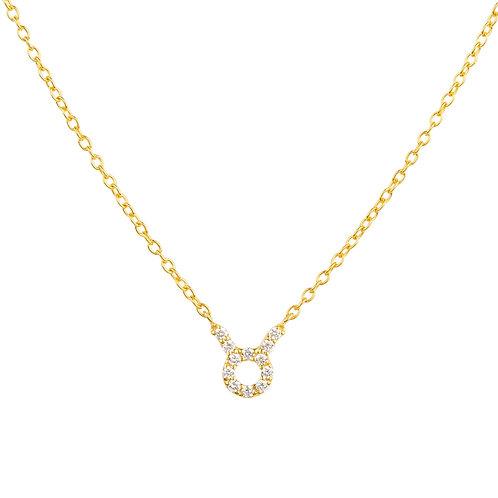 Diamond Zodiac Necklace Gold Taurus