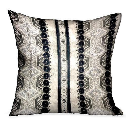 Scandanavian Stripe Black, White Geometric Luxury Throw Pillow
