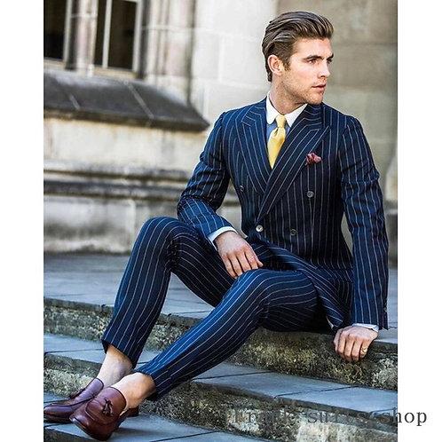 Tuxedo Wedding Suits for Men Slim Fit Tuxedos (Jacket+Pants)
