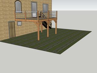 Terrasse Meleze suspendue sur poteaux