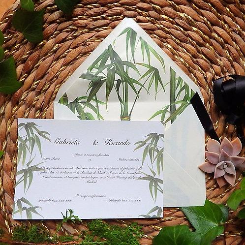 Invitación Bambú