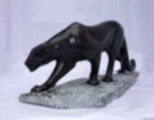 PHOTO IMAGE PANTHERE BLACK-SPRINGSTONE DE LA PIERRE A LA CHAIR SCULPTEUR ANIMALIER FRANCE