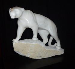 tigre en mabre blanc de Carrare