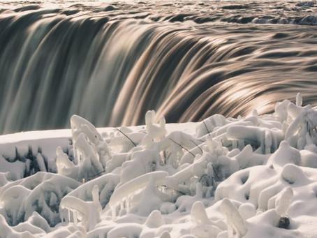 Un plan d'eau dynamique  même en hiver
