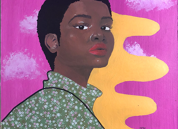 """Person in Green -12x16"""" Print"""