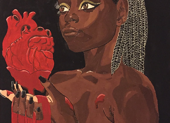 "Heart in Hand - 4x7"" Print"