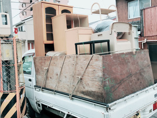 名古屋市熱田区にて引越し後の残置物撤去