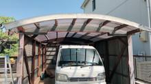 名古屋市北区にて車庫の解体作業、撤去