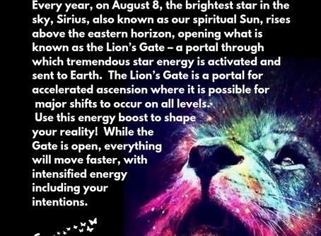 Positive Affirmation for Lion's Gate Portal on 8/8