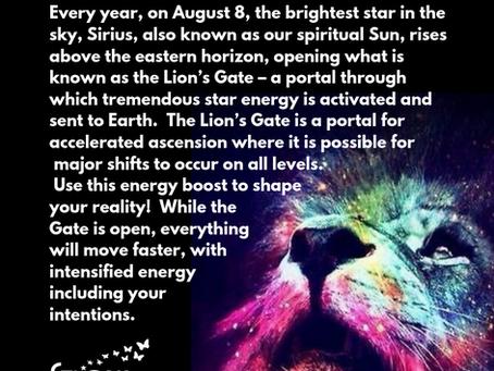 Positive Affirmation for Lion's Gate Portal on 8/8