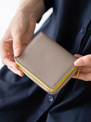 ツートン二つ折り財布