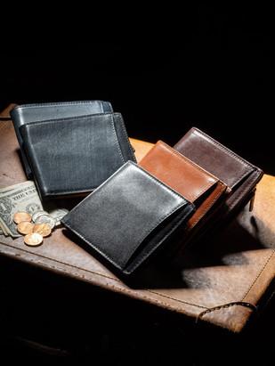 イタリアン&ブライドルレザー二つ折り財布