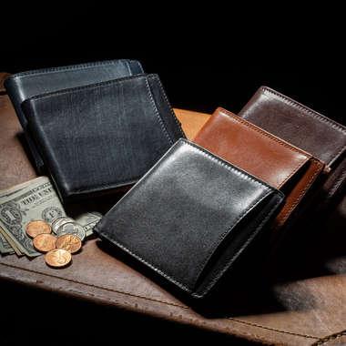 イタリアンレザー二つ折り財布
