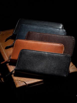 イタリアン&ブライドルレザー長財布