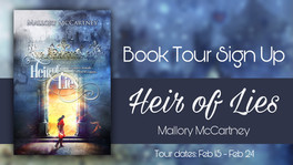 *CLOSED* Review Tour Sign Up: Heir of Lies by Mallory McCartney