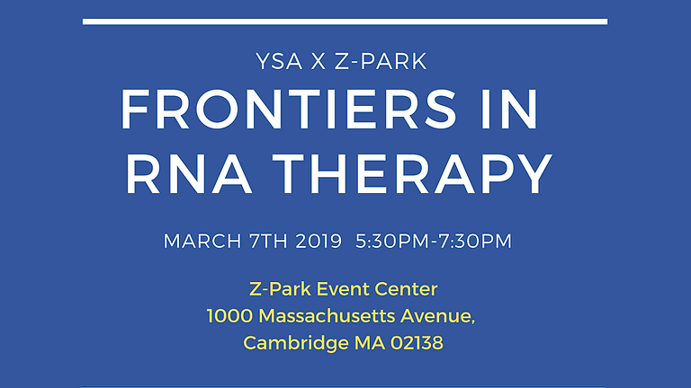 【YSA x Z-Park】Frontiers in RNA Therapy