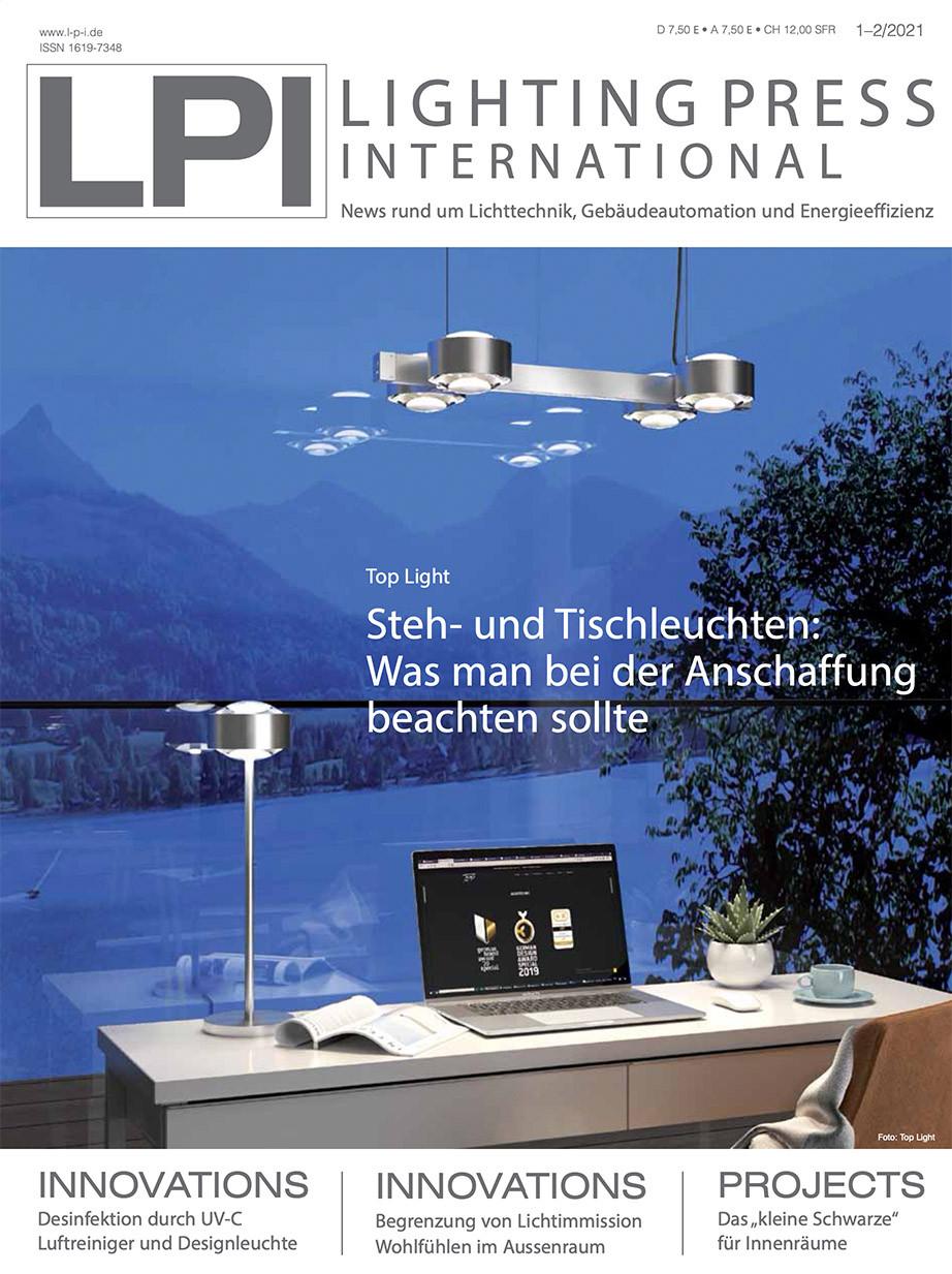 Cover / Titel der aktuellen Ausgabe LPI Lighting Press International