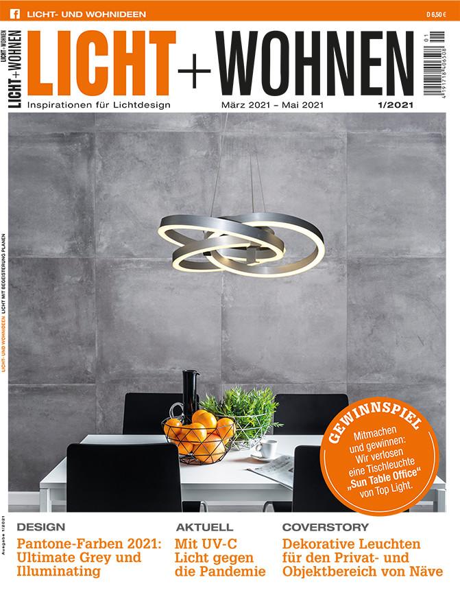 Das Cover der aktuellen Ausgabe von Licht + Wohnen
