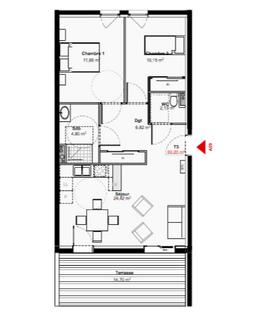 plan appartement 27m2