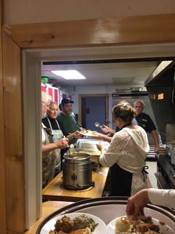 The wonderful kitchen staff