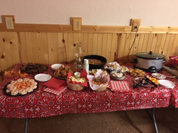 snack table at Hoe down