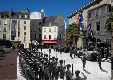 14 juillet à Cherbourg 1944/2017