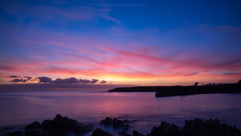 Sunrise on the west