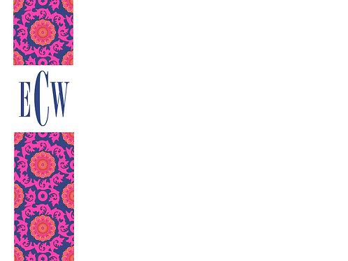 Pink & Blue Floral