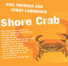Front cover of Shore Crab! The new album from Neil Thomson and Gerry Cambridge.