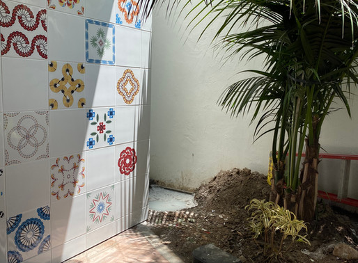 RECENTLY INSTALLED: Permanent Ceramic Tile Installation at Paseo Nuevo in Santa Barbara, CA