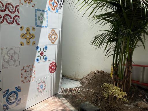 RECENTLY INSTALLED: Permanent Ceramic Tile Installation at Paseo Nuevo in Santa Barbara, CA
