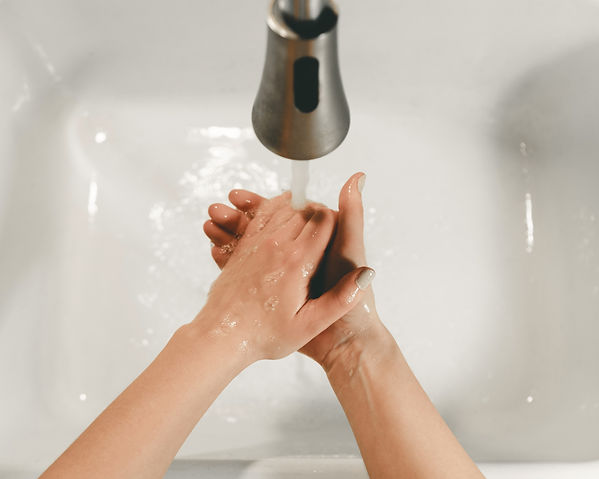 Hand washing image, safe guarding against Covid-19