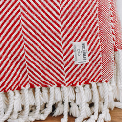 Red and white blanket