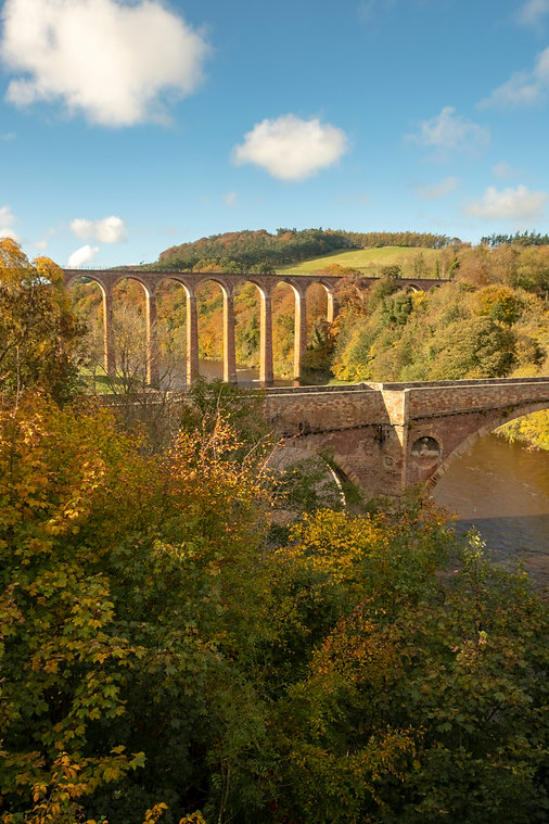 Leaderfoot Viaduct, Scottish Borders.