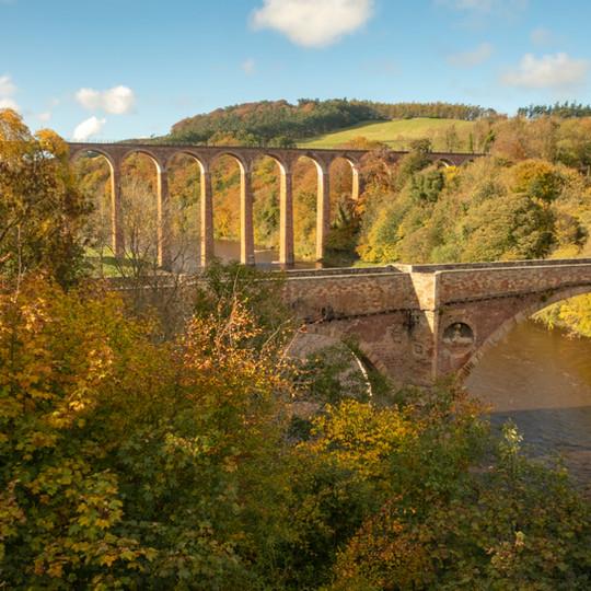 Leaderfoot viaduct, Scottish Borders