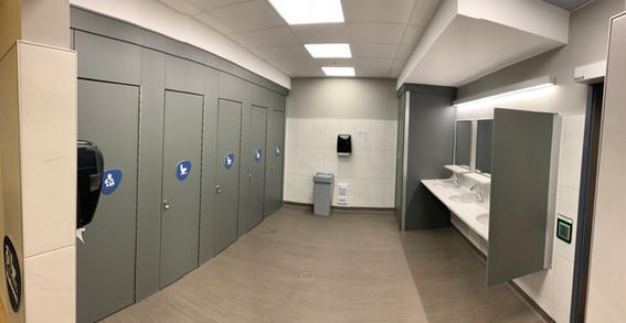 VIU Library - Multiuse bathroom partitions