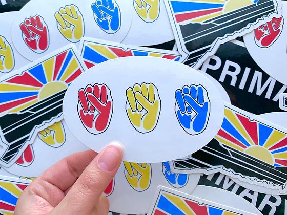 Primary Fists Sticker